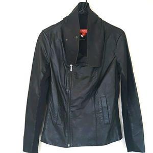 KIRNA ZABETE black leather coat size medium